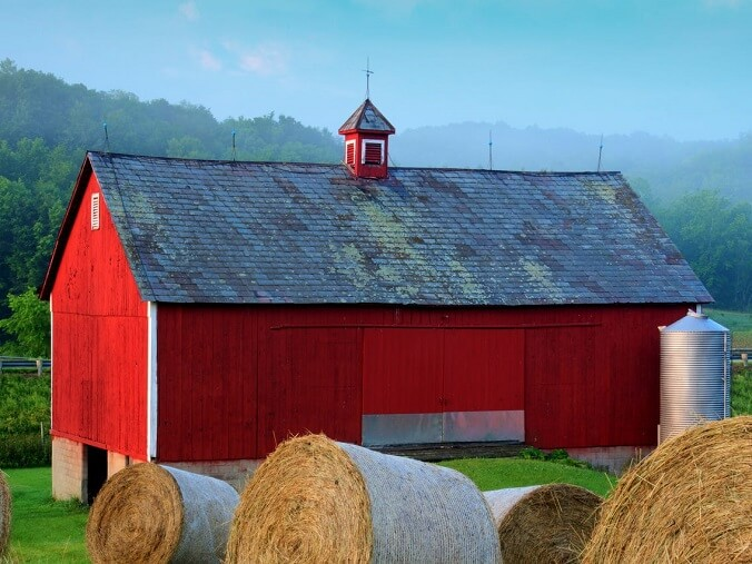 Barns Typically Painted Red